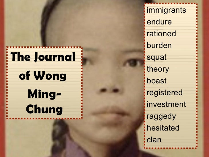 immigrants              endure              rationed              burdenThe Journal   squat              theory of Wong   ...