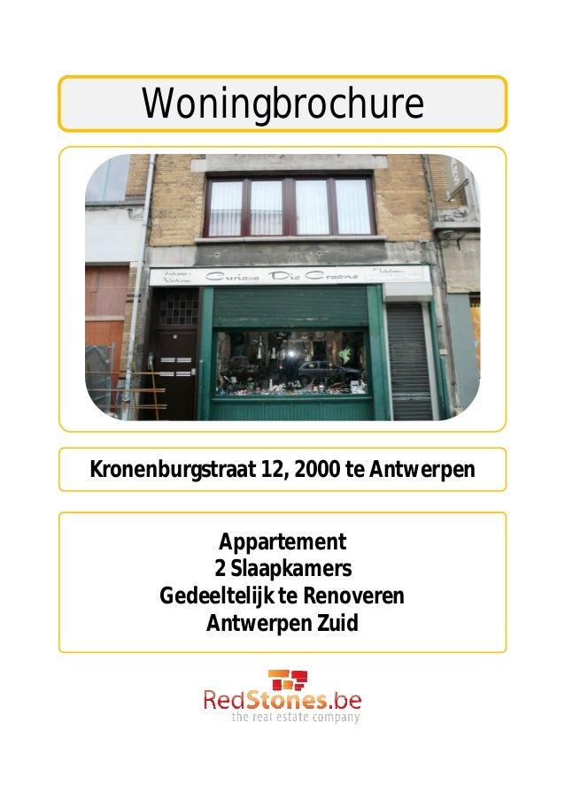 woningbrochurekronenburgstraat 12 2000 te antwerpen appartement 2 slaapkamers