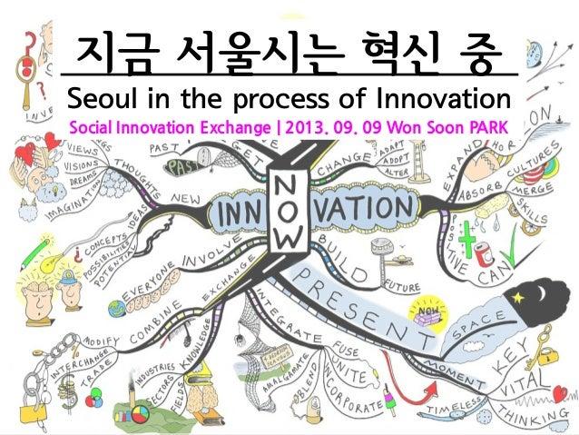 지금 서울시는 혁신 중 Seoul in the process of Innovation Social Innovation Exchange | 2013. 09. 09 Won Soon PARK