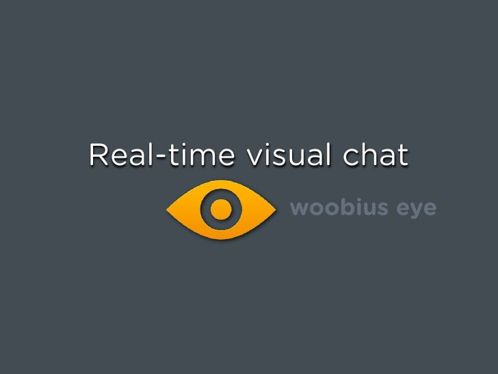 Real-time visual chat              woobius eye