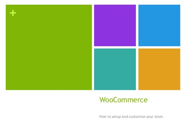 + WooCommerce How to setup and customize your store.
