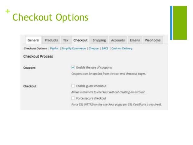 + Checkout Options