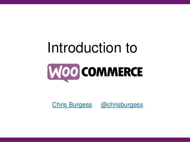 Introduction to Chris Burgess @chrisburgess