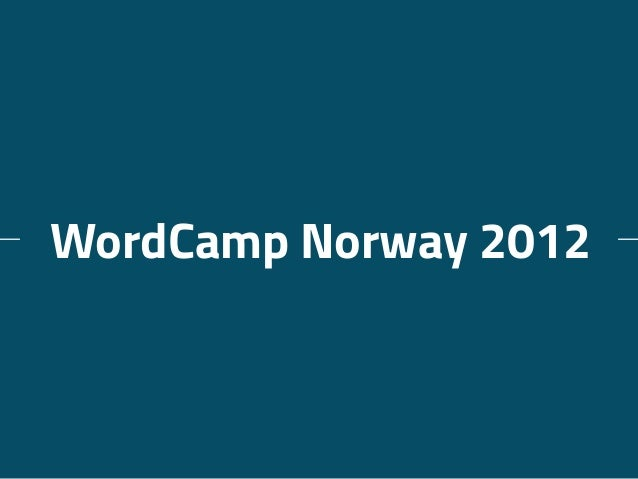 WordCamp Norway 2012