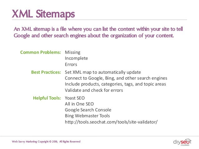XML Sitemaps An XML sitemap is a file where you can list the content within your site to tell Google and other search engi...