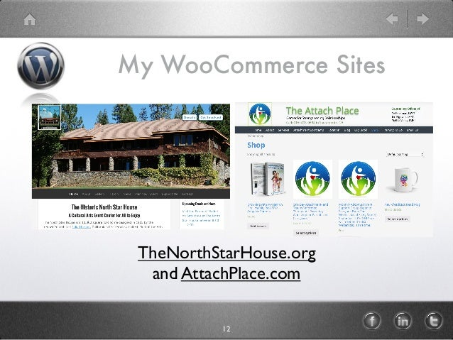 My WooCommerce Sites 12 TheNorthStarHouse.org and AttachPlace.com