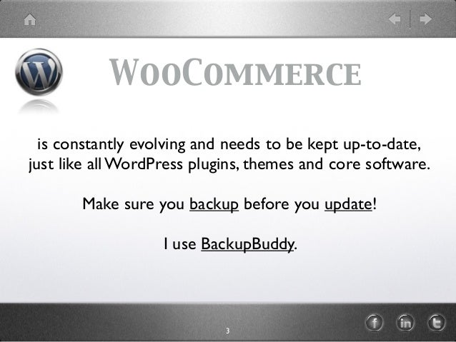 WooCommerce is constantly evolving and needs to be kept up-to-date, just like all WordPress plugins, themes and core softw...