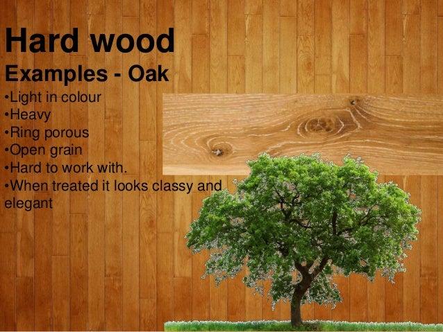 Rough sawn hardwood timber.