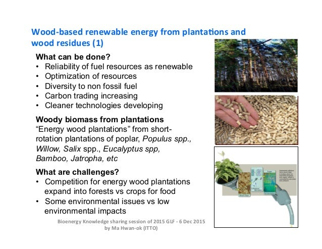 What can be done? •  Reliability of fuel resources as renewable •  Optimization of resources •  Diversity to non fossil fu...