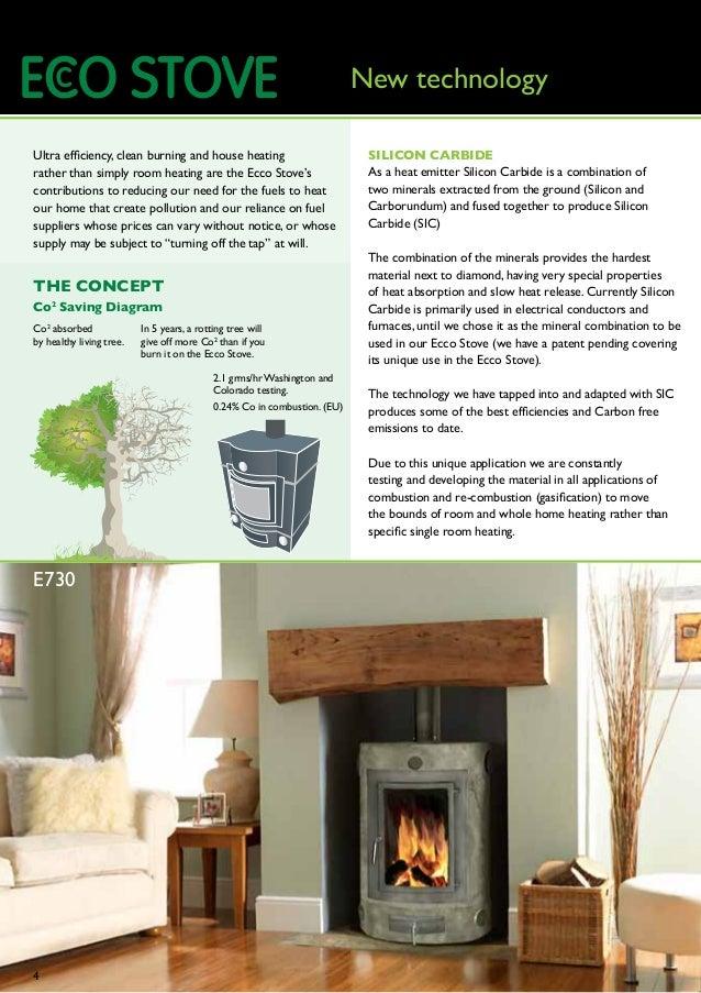 Wood Burning Stove Model E850 by EccoStove