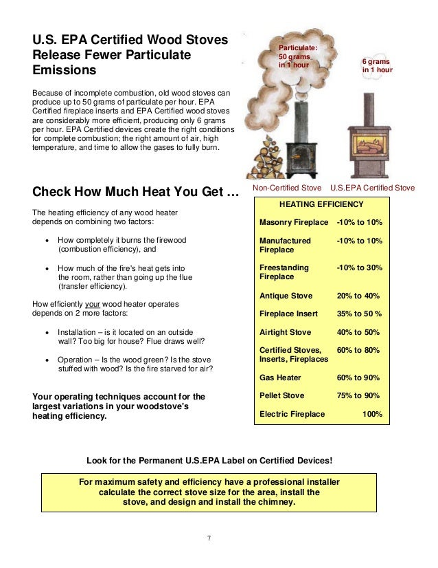 ... 8. U.S. EPA Certified Wood Stoves Release Fewer Particulate Emissions  ... - Wood Burning Handbook