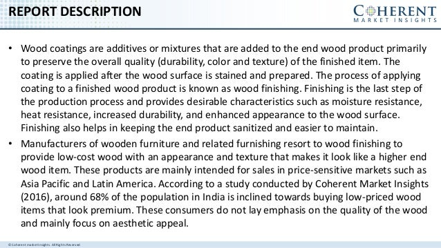 Global Wood Coatings Market Size, Share, Development, Growth and Demand Forecast to 2024 Slide 2