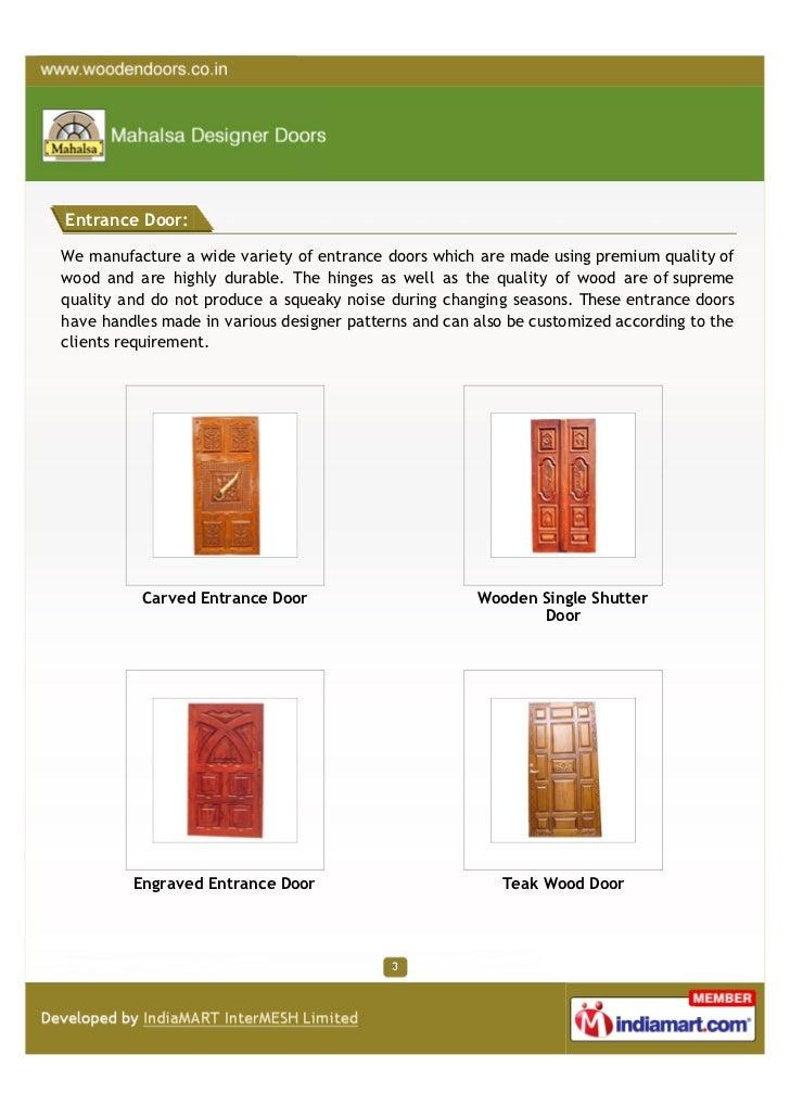 Mahalsa Designer Doors, Bengaluru, Wooden Products Slide 3
