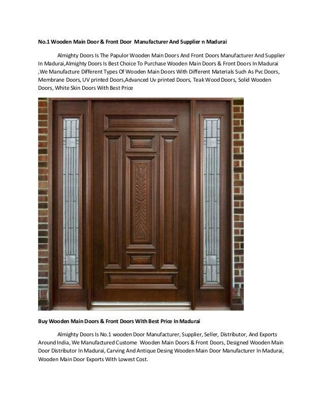 Wooden Main Door Amp Front Door Manufacturer In Madurai