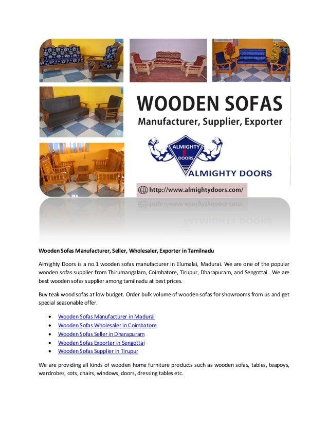 Wooden Sofas Manufacturer Seller Wholesaler Exporter In