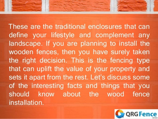 Wood fencing project things you need to know Slide 2