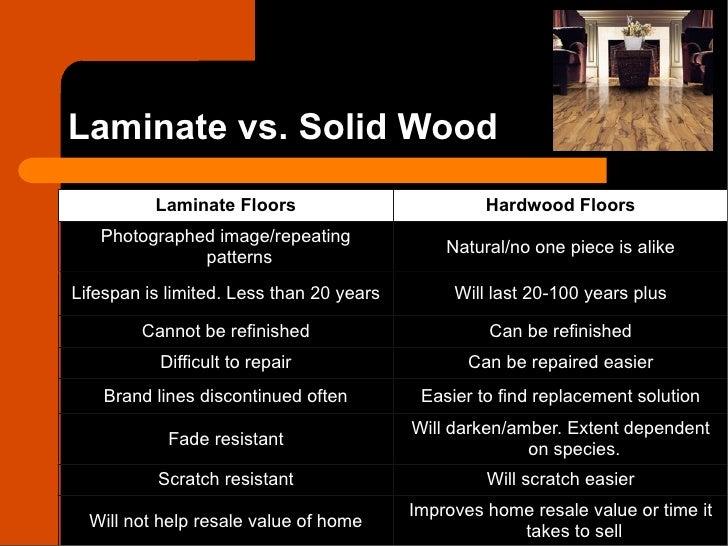 Laminate vs. Solid Wood ...