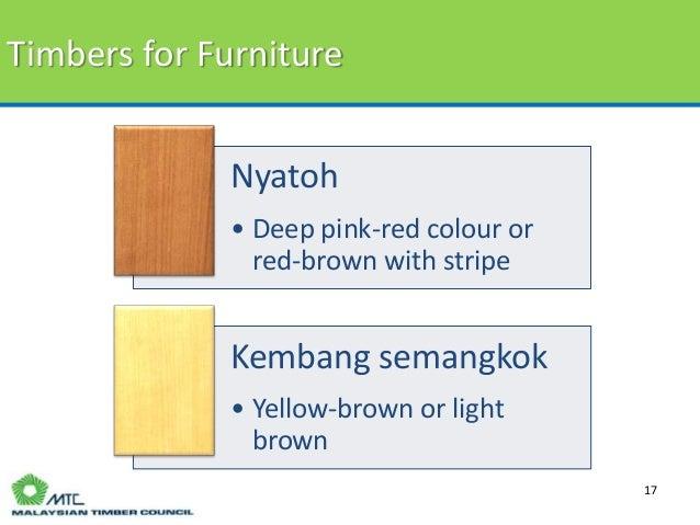 ... 17. Timbers for Furniture 17 Nyatoh ...