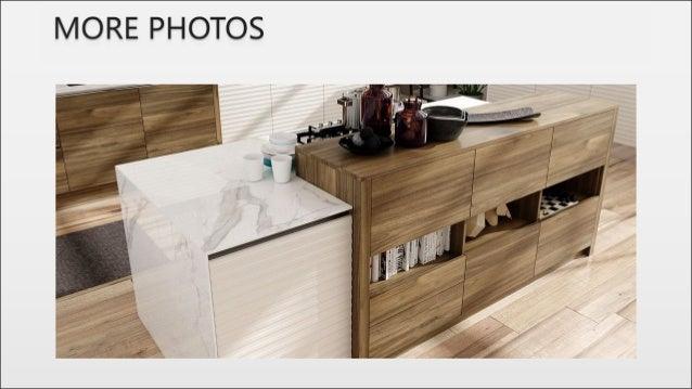 Wood grain melamine and white pvc kitchen units op17 pvc09