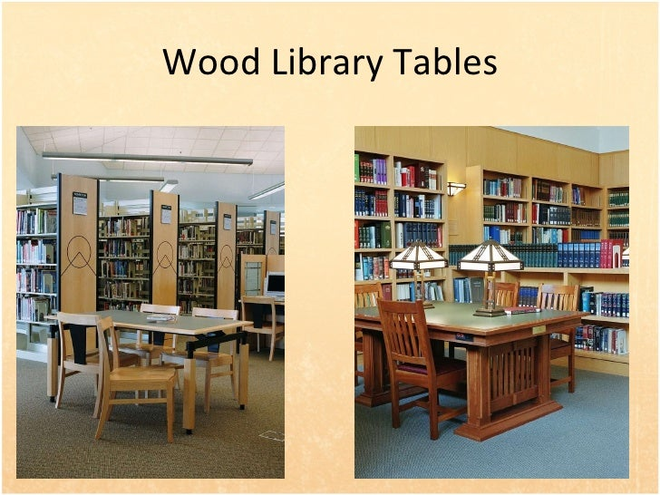 Custom Wood Library Study Tables  31. Wood Library Furniture and Shelving For Libraries