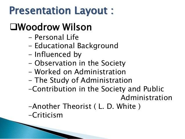 woodrow wilson public administration