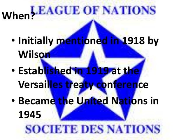 wilson the 14 points and the league of nations