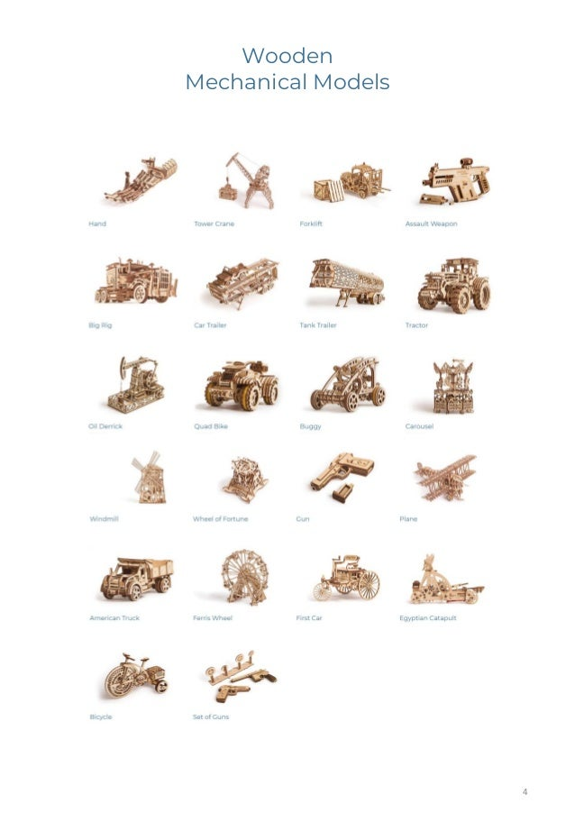 Wood trick catalog of wooden mechanical models wo prices