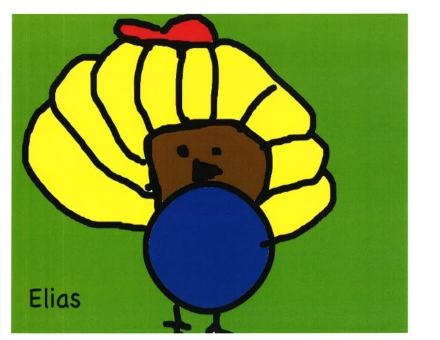 KidPix Turkeys - Wood
