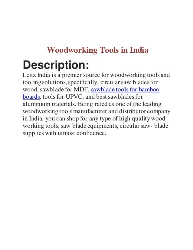 Woodworking Tools In India