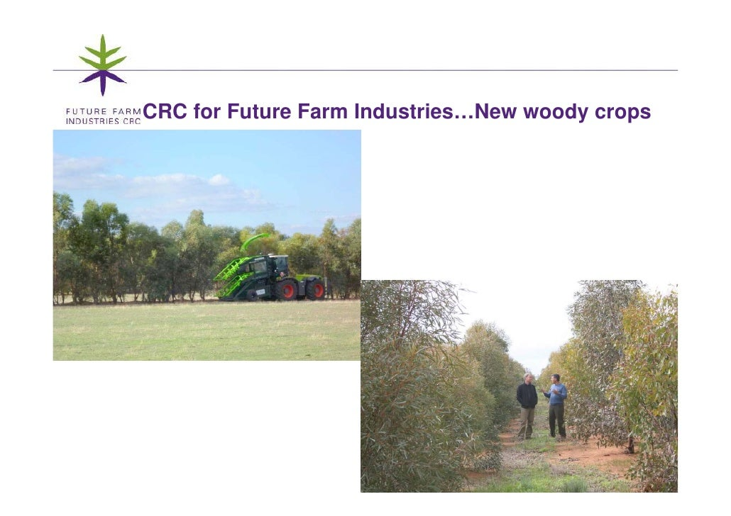 CRC for Future Farm Industries…New woody crops                                               1