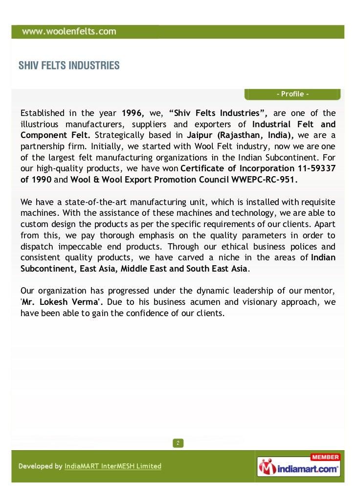 Shiv Felts Industries, JIapur, Wool Felt Strips Slide 2