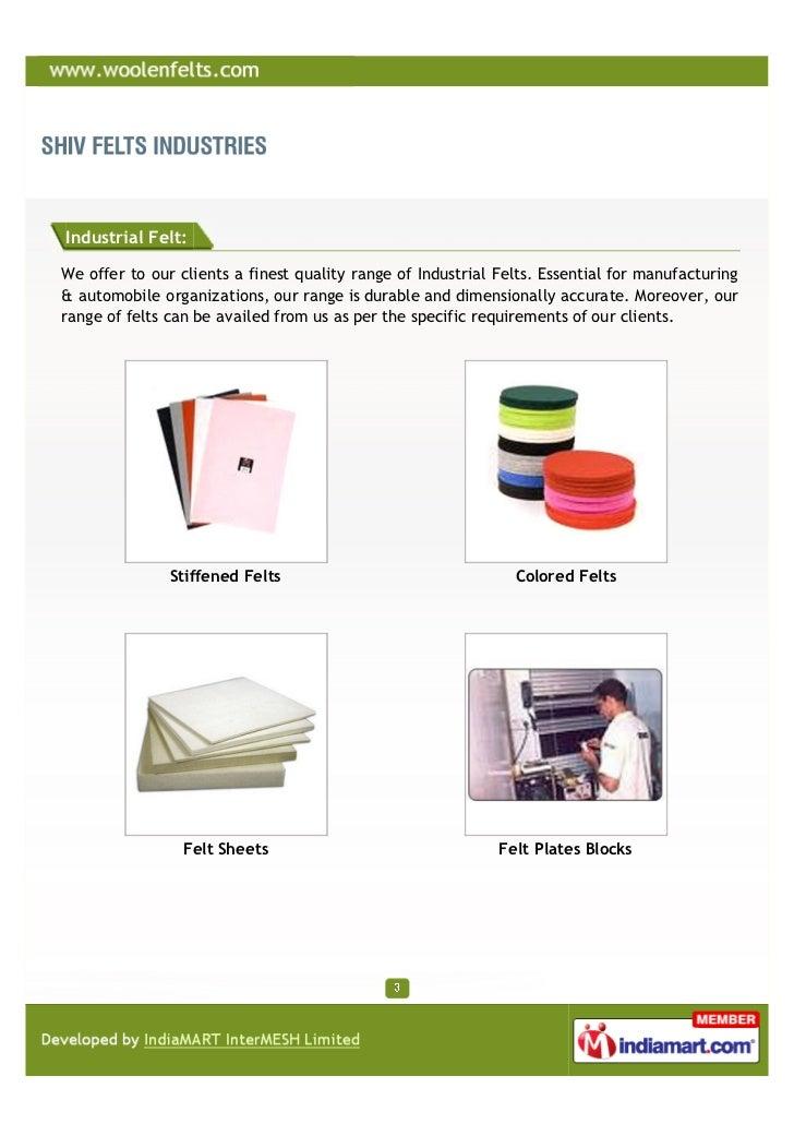 Shiv Felts Industries, JIapur, Wool Felt Strips Slide 3