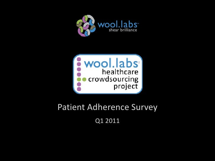 Patient Adherence Survey                                         Q1 2011Wool.labs 2010 (Confidential)                     ...