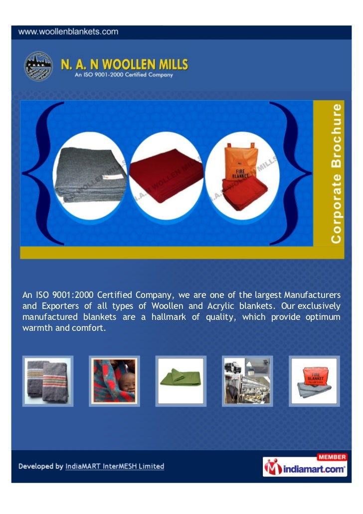 An ISO 9001:2000 Certified Company, we are one of the largest Manufacturersand Exporters of all types of Woollen and Acryl...