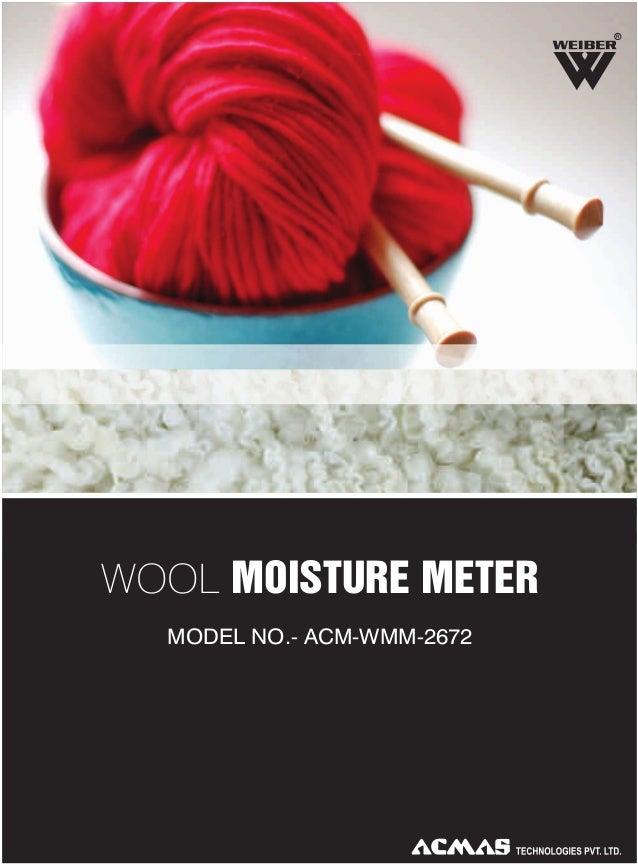 R  WOOL MOISTURE METER MODEL NO.- ACM-WMM-2672
