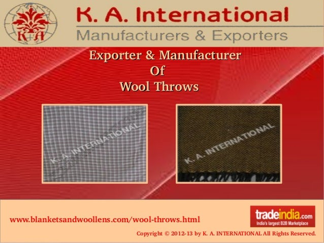 Copyright © 2012­13 by K. A. INTERNATIONAL All Rights Reserved. Exporter & ManufacturerExporter & Manufacturer            ...