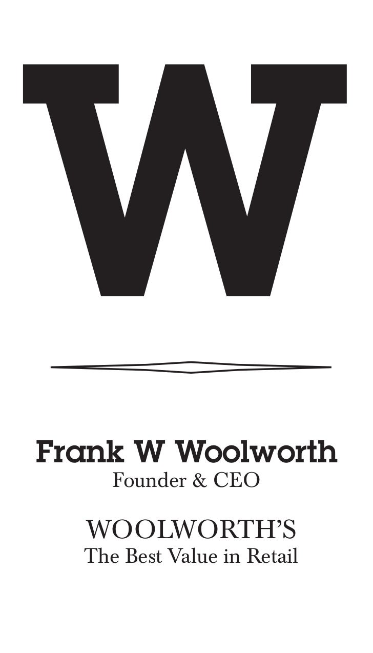 Woolworth Business Card