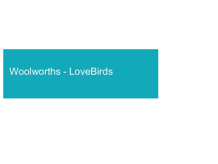 t Woolworths - LoveBirds