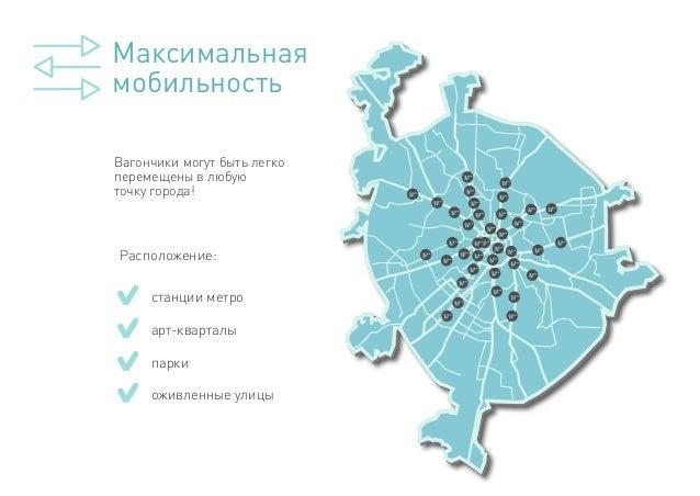 Вагончики могут быть легко перемещены в любую точку города! Максимальная мобильность Расположение: станции метро парки арт...