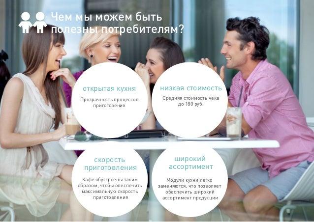 Прозрачность процессов приготовения открытая кухня Средняя стоимость чека до 180 руб. низкая стоимость Кафе обустроены так...