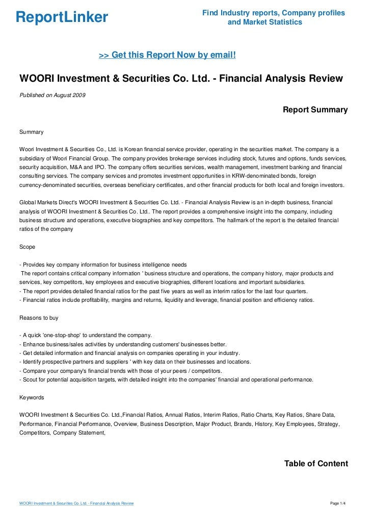 Securities and investments review of related reinvest back