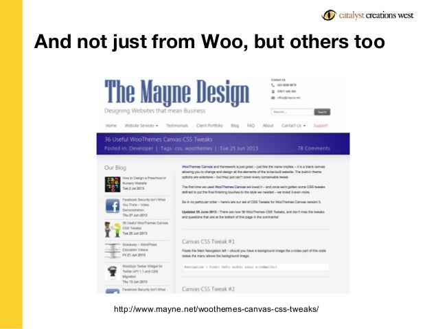 Why you should be using WooThemes Canvas, and other thoughts