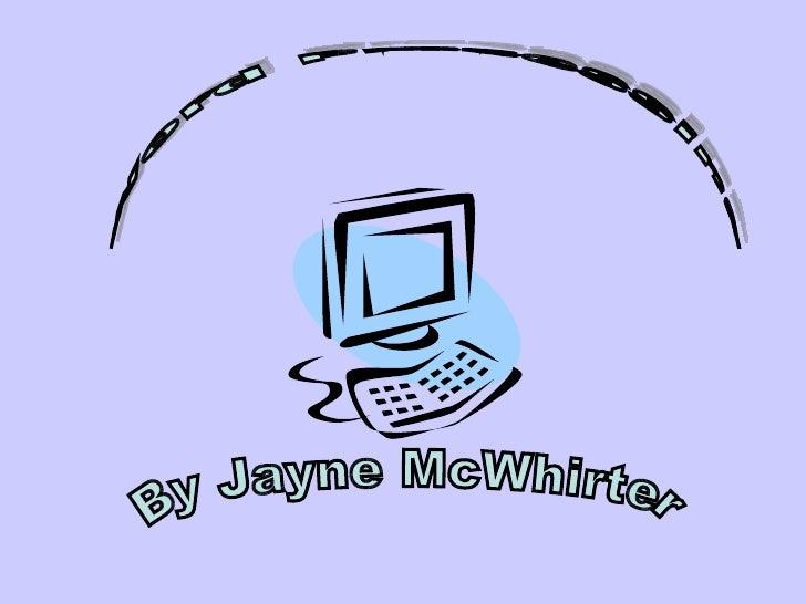 Word Processing By Jayne McWhirter