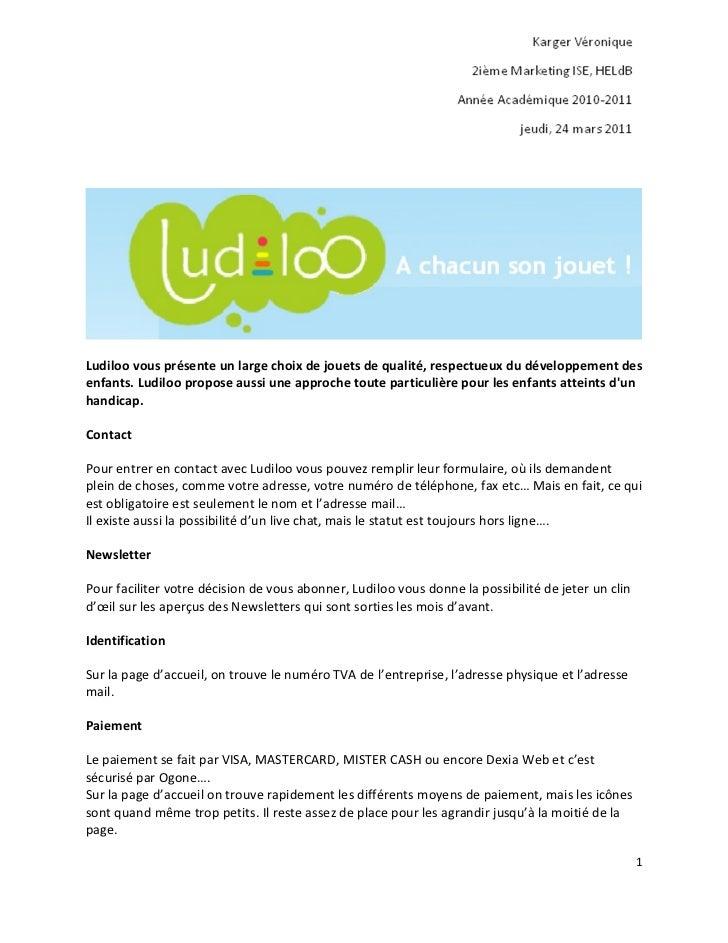 Ludiloo vous présente un large choix de jouets de qualité, respectueux du développement desenfants. Ludiloo propose aussi ...
