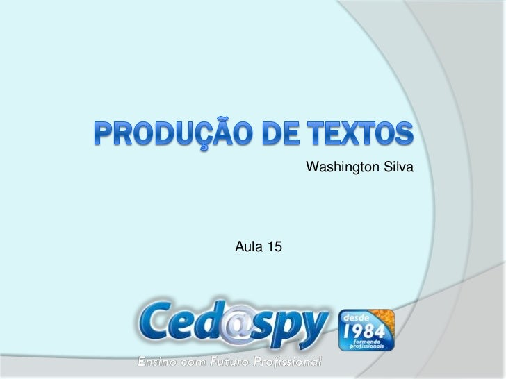 Washington SilvaAula 15
