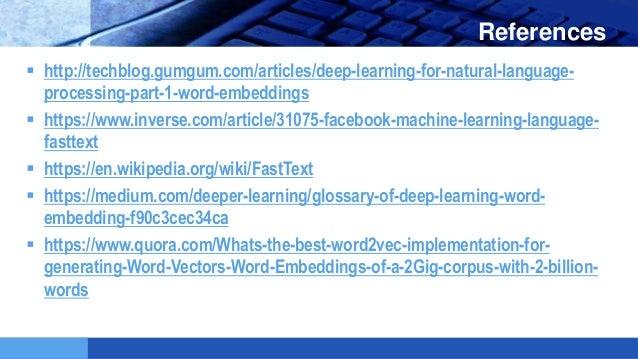 ورشة تضمين الكلمات في التعلم العميق Word embeddings workshop
