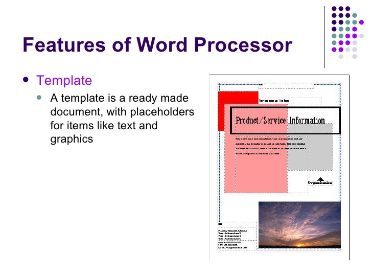word processing slides