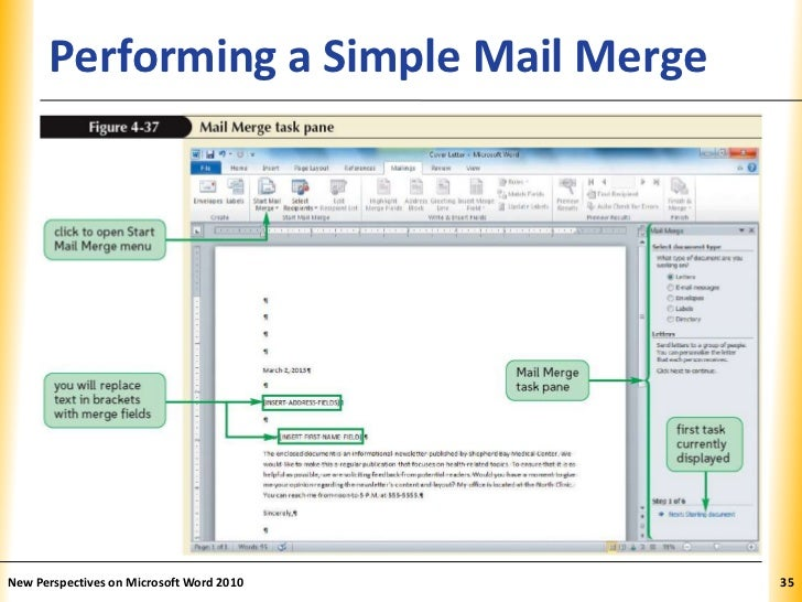 simple mail merge instructions word 2010