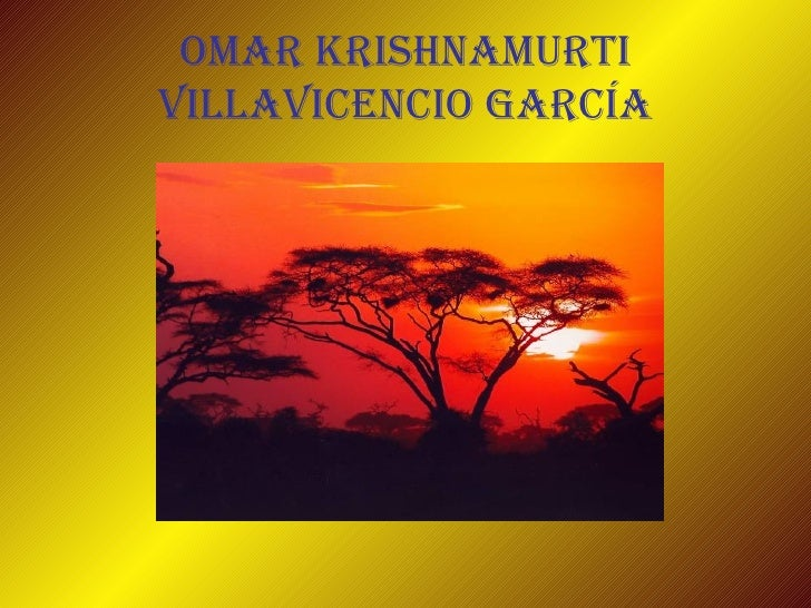 Omar Krishnamurti Villavicencio García