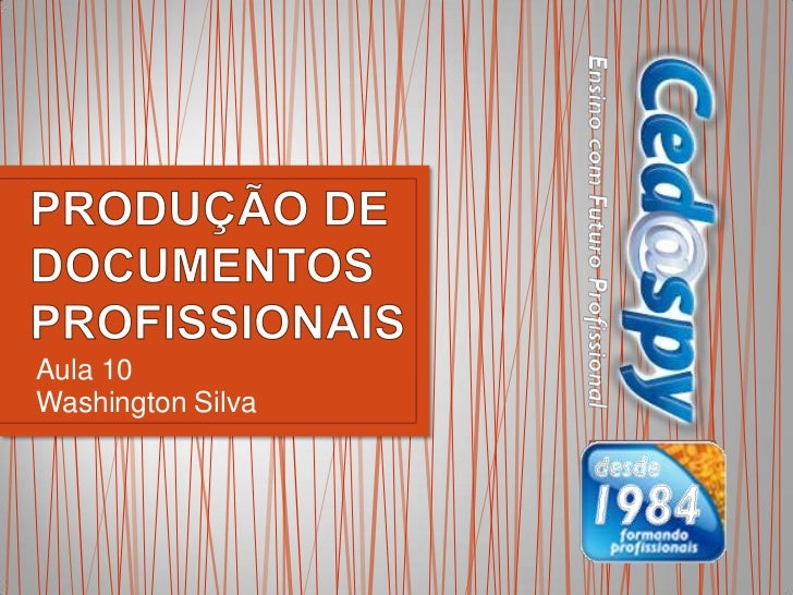 Aula 10Washington Silva